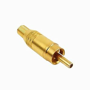 Plug, RCA, Hollow Center, Gold