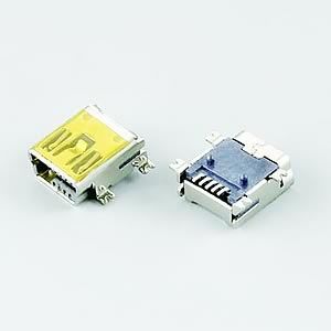 Mini USB / B / Female / SMT