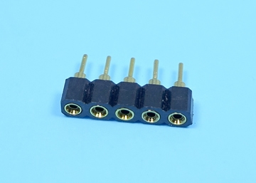 2.54mm SIP SOCKET Single Row Round Pin (Gold Plated)