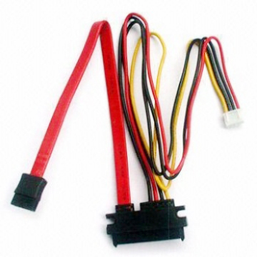 SATA 7 + 15-pin SATA and Power Cable Serial with 4-pin Features Pitch 2.0 Housing