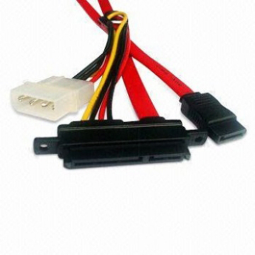 SATA Data and Power Combo Cable, Suitable for CDs, DVDs, and High Capacity Removable Devices