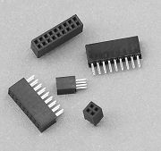 605 series - Female header 1.27mm pitch Straight type for square in   Profile 4.30mm - Weitronic Enterprise Co., Ltd.